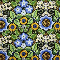 Free Spirit Wild Child Flower Fiesta Blue by EmeraldCityFabrics