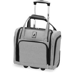 London Fog Blackwhite Hound 15-In. 2-Wheel Under The Seat Bag -... ($96) ❤ liked on Polyvore featuring bags and luggage