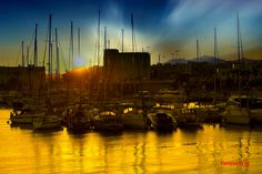 Heraklion port at dawn