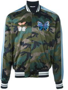 Valentino veste bomber à motif camouflage