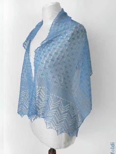 passap machine knitted lace scarf stole free pattern