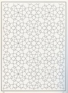 198 of Bourgoin's Arabic tessellations created from images