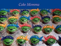 TMNT Cupcakes - by cakemomma1979 @ CakesDecor.com - cake decorating website