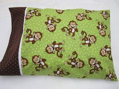Monkey pillowcase travel size by granniesraggedybags on Etsy, $8.00