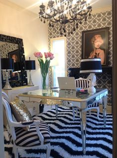 Molly Kate's ARTeriors glam home office