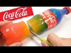 How To Make Rainbow Coca Cola Bottle Pudding Jelly DIY Cooking Surprise Coke Jelly Recipe - YouTube