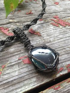 Hematite Organic Hemp NecklaceHematitie Pendant on by TheSunLab, $18.00