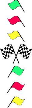 NASCAR race flags border