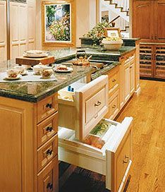 Sub-Zero Wolf Refrigerated Drawer. Have always wanted a kitchen with refrigerator drawers and dishwasher drawers.