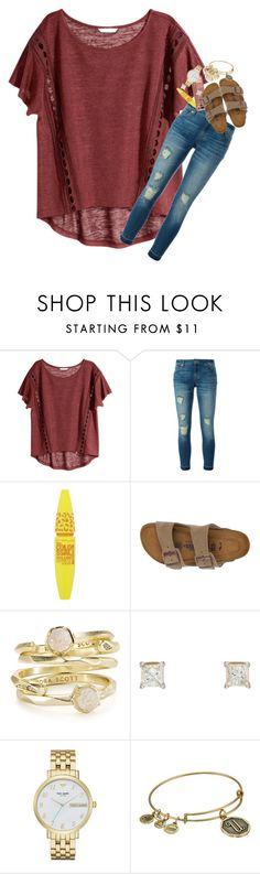 """""""Fall is coming! Comment your favorite season!"""" by kyliegrace ❤ liked on Polyvore featuring beauty, H&M, MICHAEL Michael Kors, Maybelline, Urban Decay, Birkenstock, Kendra Scott, Kate Spade and Alex and Ani"""
