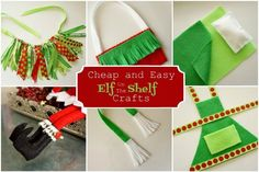 Really cheap Elf on the Shelf crafts with tutorials that you can do in a few minutes and less than $5.00.