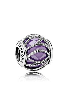 Pandora Charm - Sterling Silver, Cubic Zirconia & Glass Intertwining, Moments Collection