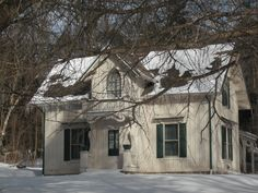 """Historic 1865 Aaron Ferry House, built from Design III of Andrew Jackson Downing's """"The Architecture of Country Houses"""", which gave birth to the Gothic Revival movement. On the National Register of Historic Places."""