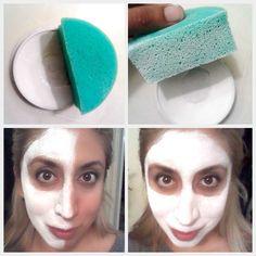 Un buen tip para dejar tu rostro blanco rápidamente es hacerlo con esponja.