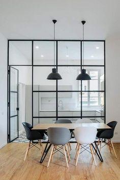 Pin by noriko morita on dining room раздвижные двери, кухня, Office Interior Design, Office Interiors, Kitchen Interior, Interior Styling, Kitchen Design, Minimalistic Design, Rustic Loft, Rustic Modern, Apartment Design