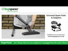 How to use a vacuum floor tool, BuySpares 'how to videos'.