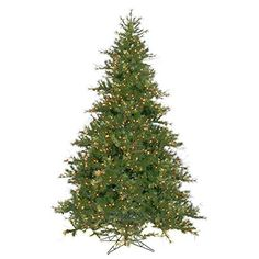 Mixed Country Pine Full Prelit Christmas Tree ** See this great product.