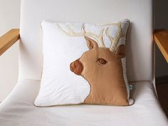 nursery pillow decorative pillow baby by LoveColorsByJulianna Deer Pillow, Baby Pillows, Pillow Set, Pillow Covers, Throw Pillows, Neutral Pillows, Colorful Pillows, Baby Shower Gifts, Baby Gifts