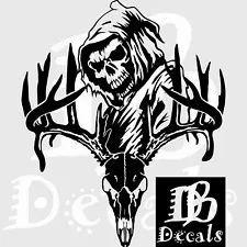 Deer Skull Bone Hunting Buck Reaper Car Truck Window Laptop Vinyl Decal Sticker Bow Hunting Deer, Hunting Decal, Custom Decals, Vinyl Decals, Funny Decals, Deer Skulls, Grim Reaper, Skull And Bones, W 6
