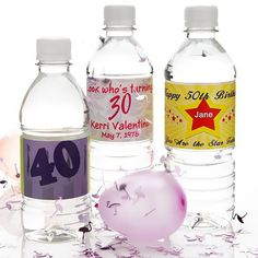 Personalized bottled water for your birthday party, bar mitzvah or bat mitzvah. Also personalized water bottle labels. Custom Water Bottle Labels, Personalized Water Bottle Labels, Agua Mineral, Online Party Supplies, Birthday Supplies, Water Bottle Design, Beer Label, Bar Mitzvah, Bottled Water