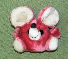 """Vintage Russ Berrie GILLY Pink Mouse VERY RARE 6"""" Plush Shredded Clippings KOREA…"""