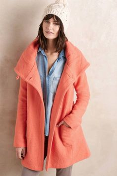 Boiled Wool Sweater Coat by Moth | Pinned by topista.com