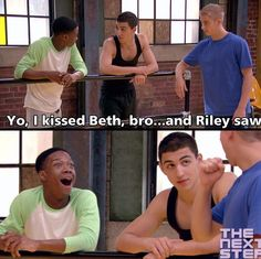 He's not supposed to kiss Beth! He's supposed to fear her! Disney Xd, Disney Memes, Series Movies, Movies And Tv Shows, Le Studio Next Step, Kiss Beth, Georgia Productions, Steps Quotes, Childhood Tv Shows