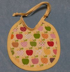 Baby Bib  Apples fabric new item by lands on Etsy