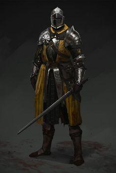 Mustard knight, Evgeniy Petlya on ArtStation at https://www.artstation.com/artwork/rPmW6?utm_campaign=digest&utm_medium=email&utm_source=email_digest_mailer