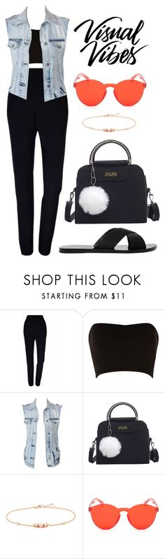 """299"" by anadutra ❤ liked on Polyvore featuring Plakinger, Jane Norman, Vila Milano, CHARLES & KEITH, black, denim, tumblr, NightOut and girl"