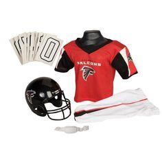 Atlanta Falcons Youth NFL Deluxe Helmet and Uniform Set (Medium)