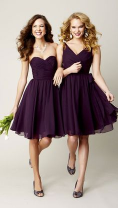 Lovely bridesmaids dresses. I love this color purple for a fall wedding wedding-ideas