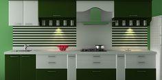 Straight layout Modular Kitchen Design