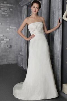 Classic Ivory Taffeta Wedding Gowns - Order Link: http://www.theweddingdresses.com/classic-ivory-taffeta-wedding-gowns-twdn0030.html - Embellishments: Applique , Beading , Ruched; Length: Court Train; Fabric: Taffeta; Waist: Natural - Price: 171.22USD