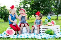 Watermelon Mini Session . Summer Photography . Child Photography