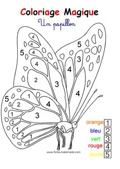 Home Decorating Style 2020 for Coloriage Magique Papillon Maternelle, you can see Coloriage Magique Papillon Maternelle and more pictures for Home Interior Designing 2020 at Coloriage Kids. Color By Numbers, Paint By Number, Adult Coloring, Coloring Books, Kindergarten, Preschool Colors, Butterfly Art, Beautiful Butterflies, 4 Kids