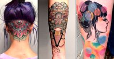 Sweet neo traditional tattoos inspired by Fine Arts.