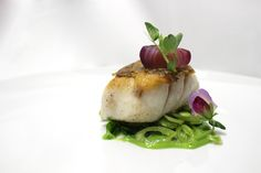 Seared Tilefish with Pea Purée, Sugar Snap Peas, and Red Cipollini ...