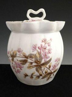 Antique Biscuit Jars | Antique Austria porcelain biscuit jar Marx & Gutherz