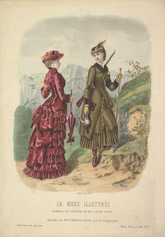 1881 - A Hunting dress and a Walking dress - La Mode Illustrée