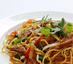 If you're a fan of Asian noodles, be sure to give these Thai Beef Stir-Fried Noodles a try! This dish is super-delicious and also very healthy - makes a perfect one-dish meal any night of the week. The recipe is also quite flexible. Make it as spicy or mild as you like, and add your own choice of vegetables depending on what you have on hand. ENJOY!