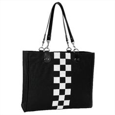 CHECKERED FLAG TOTE