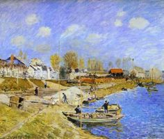 Sand on the Quayside, Port Marly - Alfred Sisley, 1875