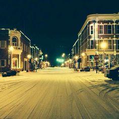 My hometown, Bentonville, AR.  The square winter 2013.