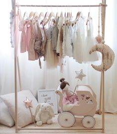 55 Ideas Baby Girl Nursery Closet Dress Up Nursery Room, Girl Nursery, Girls Bedroom, Ideas De Closets, Closet Ideas, Ideas Habitaciones, Boutique Decor, Room Closet, Baby Store