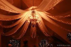 chandelier and lights in fabric wedding lights Moon Light Holiday Lighting
