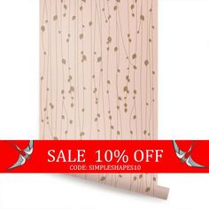 Vente feuilles rose Peel & Stick tissu papier par AccentuWall