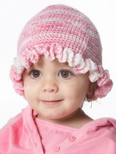 Ruffle Hat | Yarn | Free Knitting Patterns | Crochet Patterns | Yarnspirations