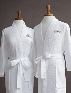 Luxor Linens Egyptian Cotton His   Hers Waffle Robes - Perfect Engagement  Gifts! (Two Robes Gift Packaging 35b78830e