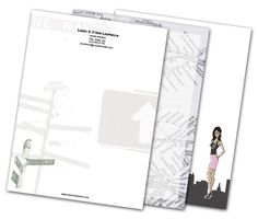 Download this Metropolitan Letterheads and other free printables from MyScrapNook.com